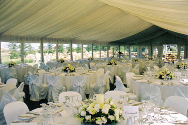 Wattle 10 Metre Structure Marquee Interiors